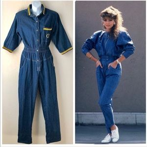 Vintage 80s Denim Jumpsuit
